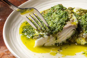 Grilled Cilantro Lime Halibut (step by step)