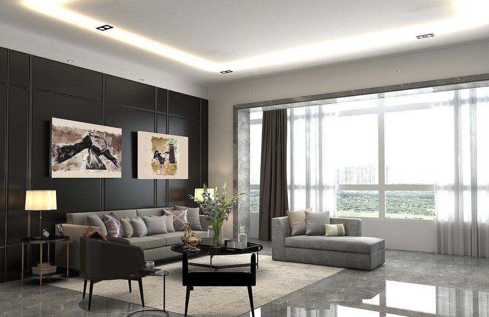 Living Room Modern Tv, Luggage, Modern, Apartment, Sofa